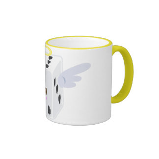 Angel Dice with Hearts Mug