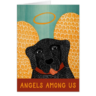 Angel Dog Black Angels among us Card