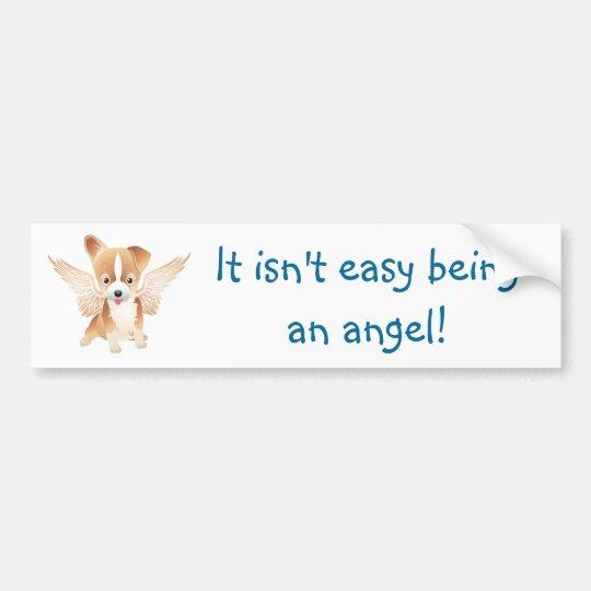 Angel Dog Jack Russell Terrier Gift Bumper Sticker