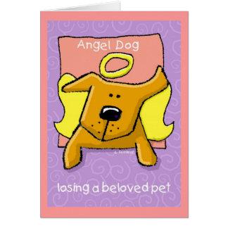 Angel Dog, Losing a Beloved Pet Greeting Card
