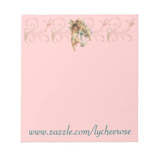 angel dove scroll notepad