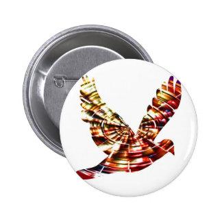 Angel Dove - Sparkling Red Cosmic Energy 6 Cm Round Badge