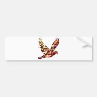 Angel Dove - Sparkling Red Cosmic Energy Bumper Sticker