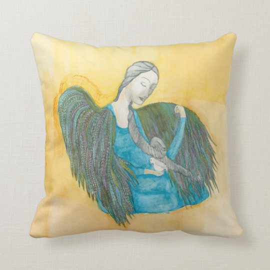 Angel Dove throw pillows