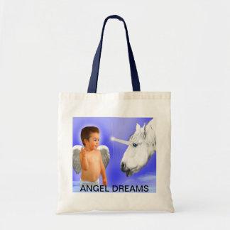 ANGEL DREAMS  THE WAY  MYSTICAL-UNICORN BUDGET TOTE BAG