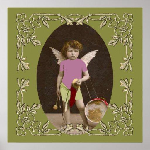 Angel Drum Girl Poster