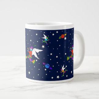 Angel Dudes Starry Night (Midnight) Large Coffee Mug