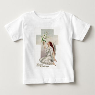 Angel Easter Lily Christian Cross Shirt