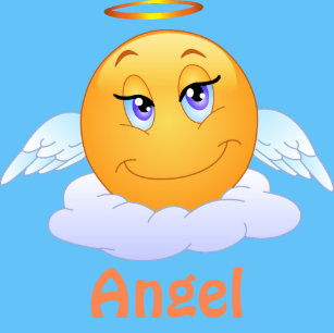5fe93f95a8f Angel Emoji Emoticon Cartoon Face Classic Round Sticker