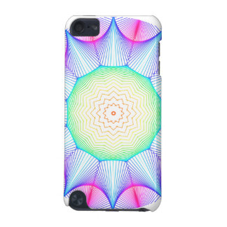 Angel Energy Mandala, Abstract Glowing Magenta iPod Touch (5th Generation) Cases