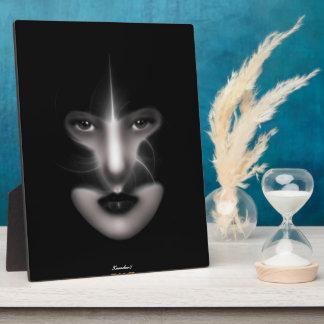 Angel Eyes Fractal Art Photo Plaque