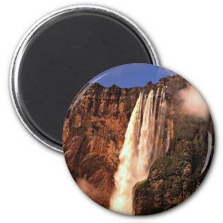 Angel Falls on Auyan Tepui, Venezuela 6 Cm Round Magnet
