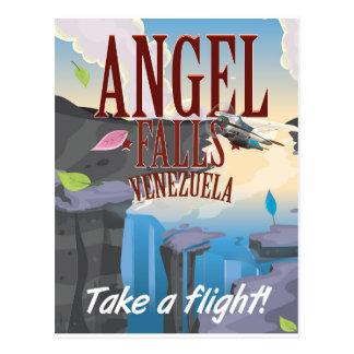 Angel Falls Venezuela Travel poster Postcard