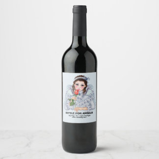 ANGEL FANTASY Cartoon Wine (or Champagne) Wine Label