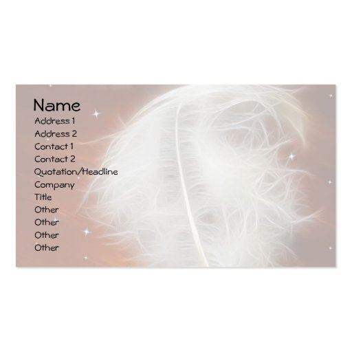 Angel Feather 2 Business Card