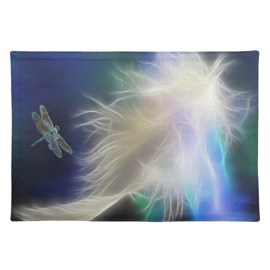 Angel Feather and Dragonfly Placemat