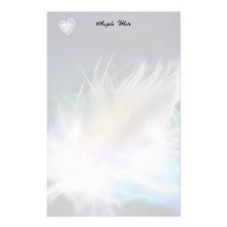 Angel Feather and Heart! Stationery