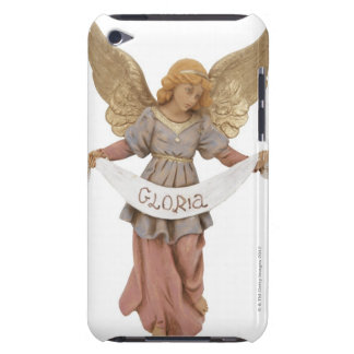Angel figurine with 'Gloria' banner Barely There iPod Case