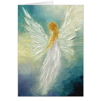 """Angel"" Fine Art Greeting Card"