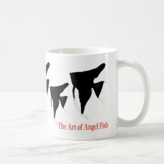 Angel fish of shadow picture basic white mug