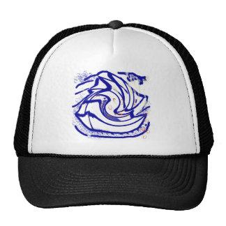 angel fish swirl mesh hat
