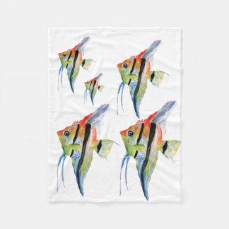 Angel Fish  Watercolor Fleece Blanket, Baby