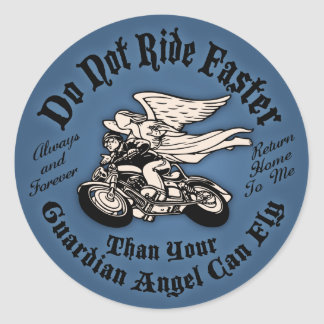 Angel Flight II Classic Round Sticker
