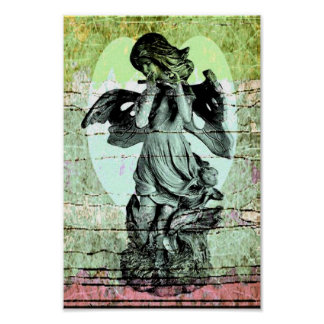 Angel Flute and Heart Poster