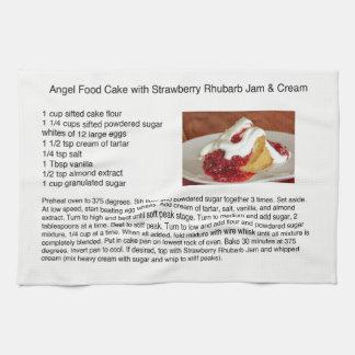 Angel Food Cake With Strawberry Rhubarb Hand Towels