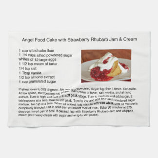 Angel Food Cake With Strawberry Rhubarb Tea Towel
