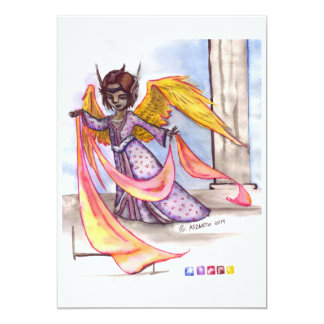 Angel for loved ones 13 cm x 18 cm invitation card