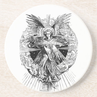 Angel from The Song of Bethlehem 1901 Sandstone Coaster