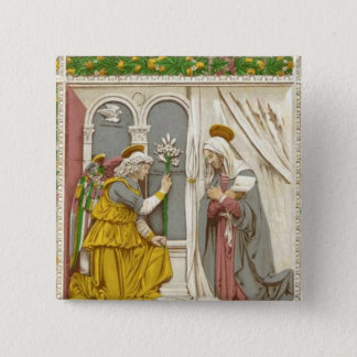Angel Gabriel The Annunciation To Mary 15 Cm Square Badge