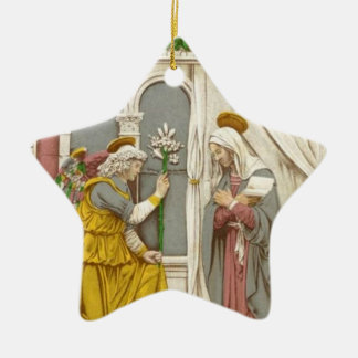 Angel Gabriel The Annunciation To Mary Ceramic Star Decoration