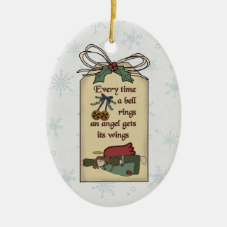 Angel Gets Its Wings Gift Tag Ornament