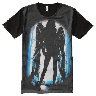 Angel Girl Wings Silhouette Fantasy Art All-Over Print T-Shirt