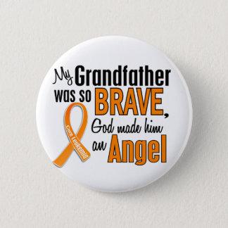 Angel Grandfather Leukemia 6 Cm Round Badge