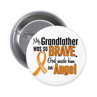 Angel Grandfather Leukemia Buttons