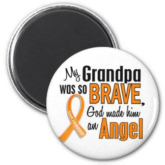 Angel Grandpa Leukemia Magnet