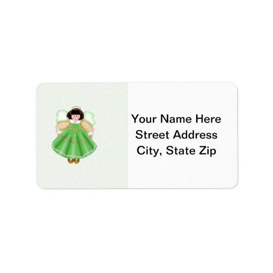 Angel (green) address label