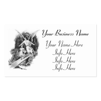 Angel Guarding A Girl Child Business Card