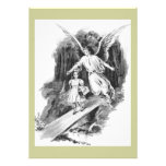 Angel Guarding A Girl Child Custom Invitation