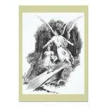 Angel Guarding A Girl Child 13 Cm X 18 Cm Invitation Card