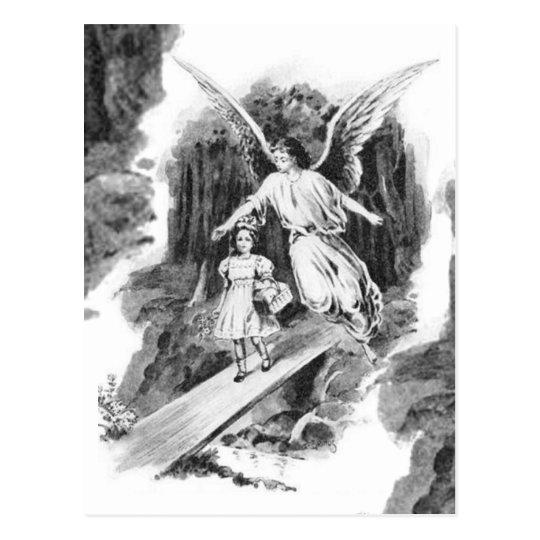 Angel Guarding A Girl Child Postcard