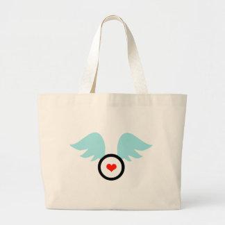 Angel Heart Large Tote Bag