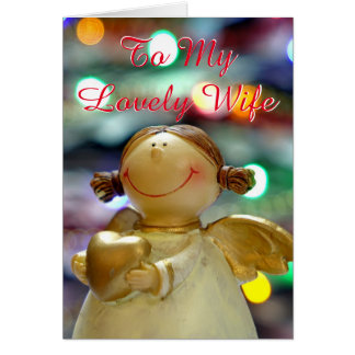 Angel Heart Proud Lesbian Newly Wed 1st Christmas Greeting Card