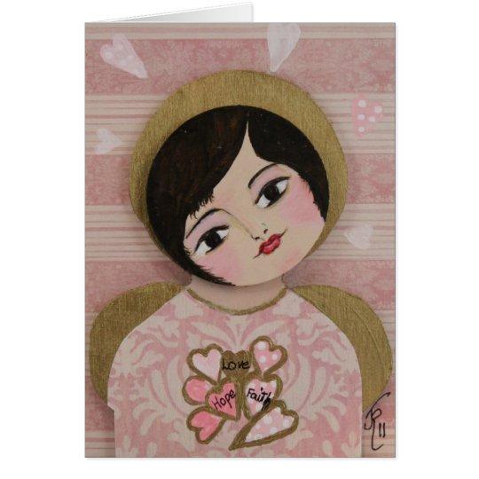 Angel Hearts Love Hope Faith Card