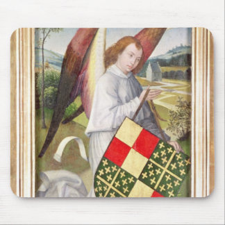 Angel holding a shield mouse mat