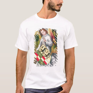 Angel holding a shield with  two leopards T-Shirt