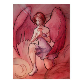 Angel Holding Cup Postcard
